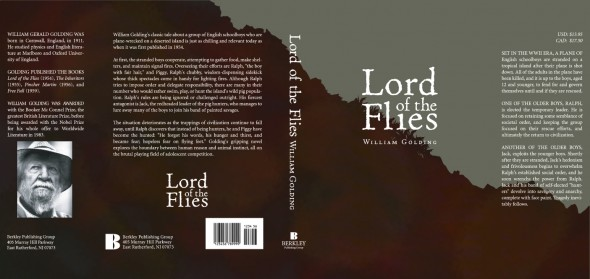 Lord of the Flies book jacket - full
