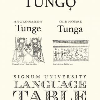 Signum Language Table Sign