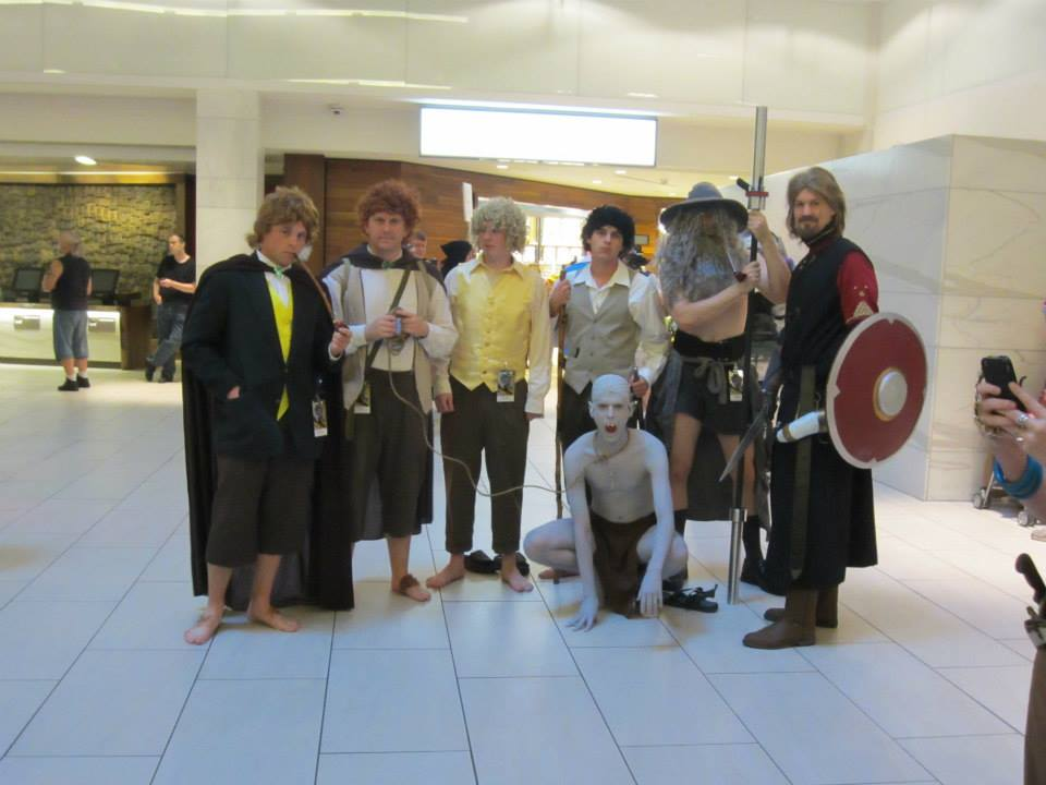 This Tolkien group managed to have a version of Gandalf wearing less clothing than me. I was impressed.